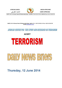 cover page Daily news briefs 12 June 2014